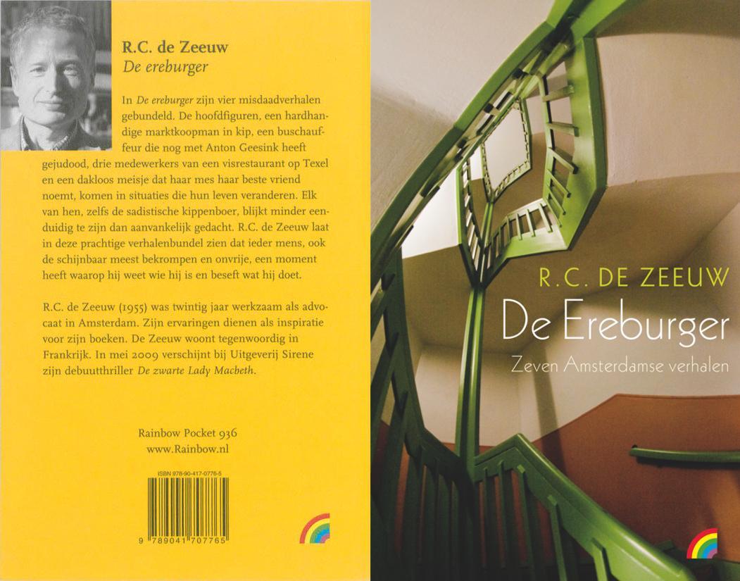 boekomslag, de ereburger, vier literaire verhalen, de zeeuw