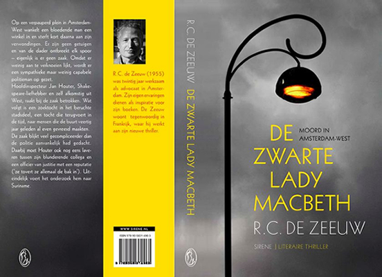 boekomslag, de zwarte lady macbeth, thriller, misdaadroman, de zeeuw